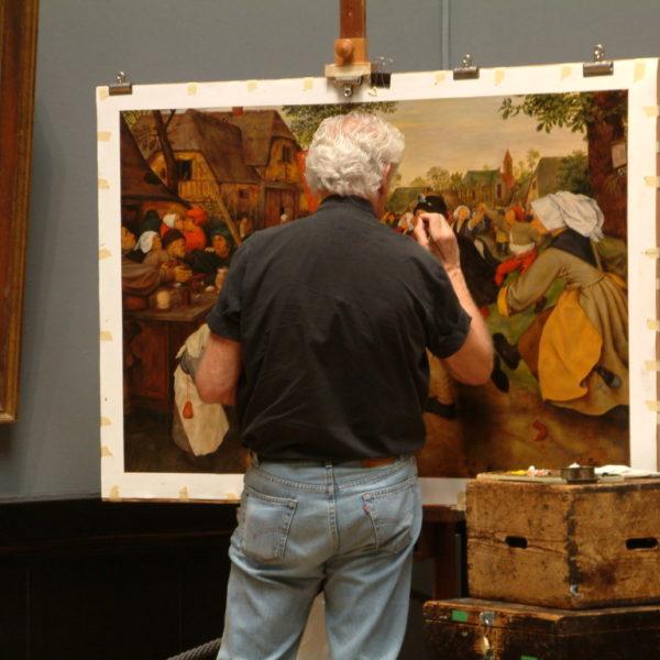 Kunsthistorisches Museum - Maler bei der Arbeit