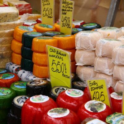 Alles Käse auf dem Markt in Amsterdam