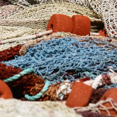 Bunte Fischernetze in Puerto de la Cruz : Teneriffa