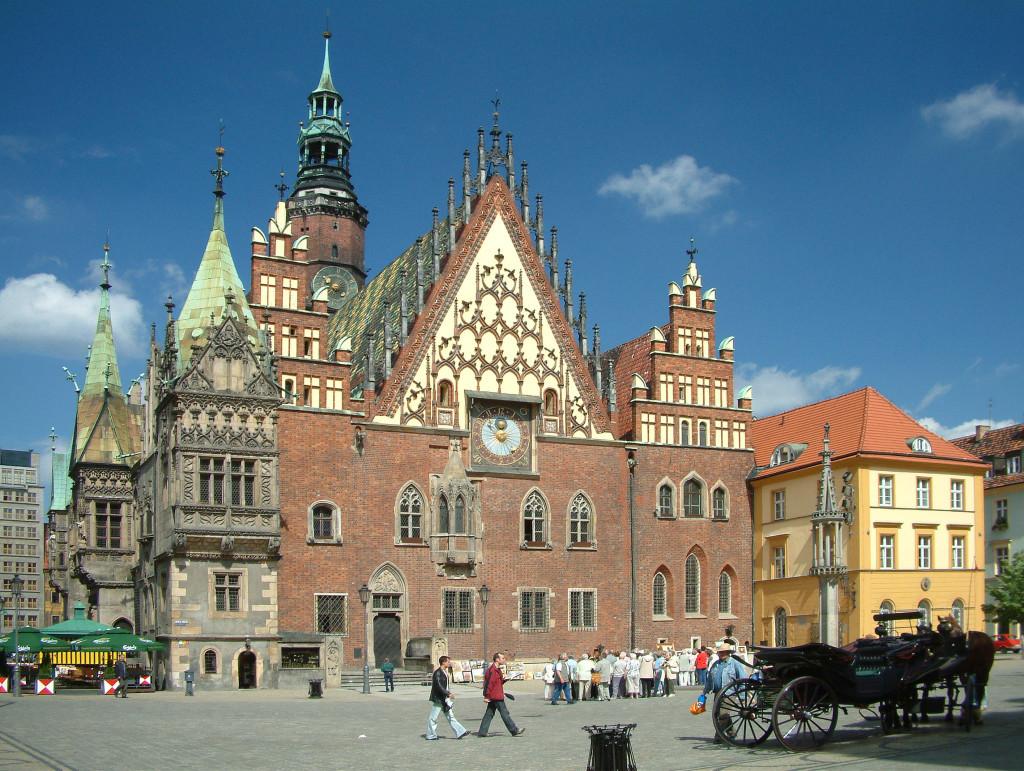 Breslauer Rathaus am Großen Ring / Rynek