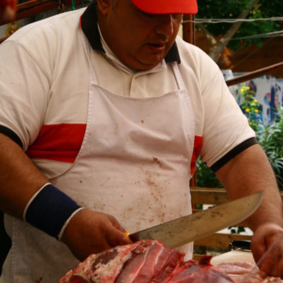 Fleischer auf dem Mercato di Ballarò