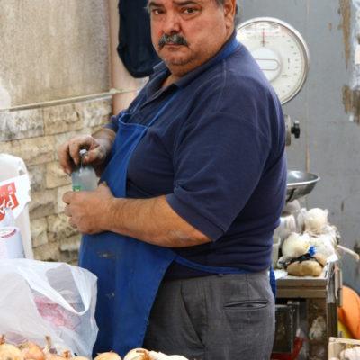Gemüseverkäufer auf dem Mercato di Ballarò