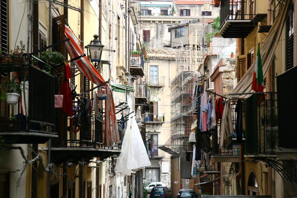 Straßen von Palermo auf Sizilien