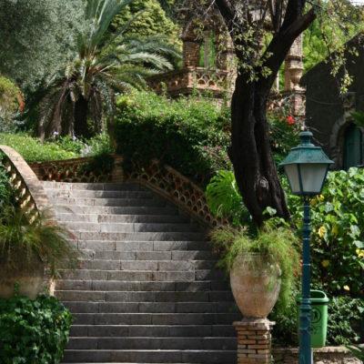 Treppe im Giardini della Villa Communale