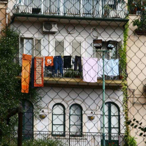 Wäscheleinencharme in Taormina