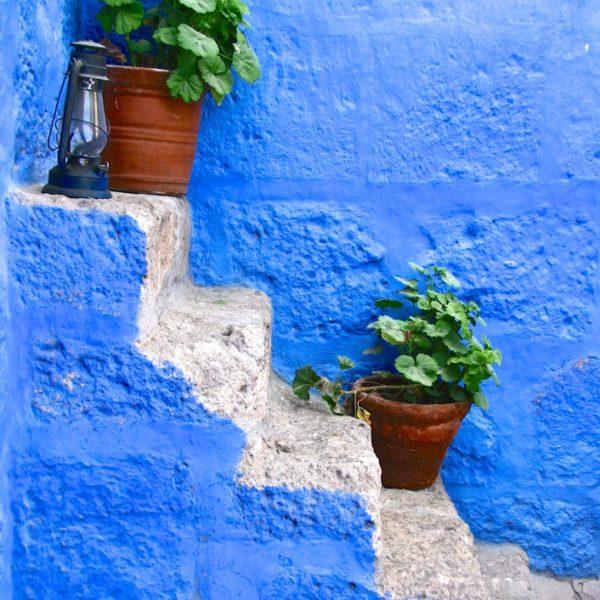 Treppe mit Blumen im Santa Catalina