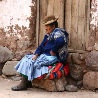 Cholita in Chinchero / Peru