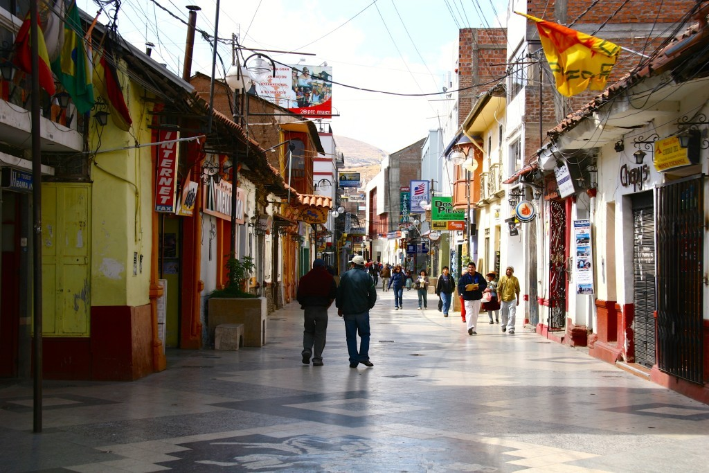 Fußgängerzone in Puno