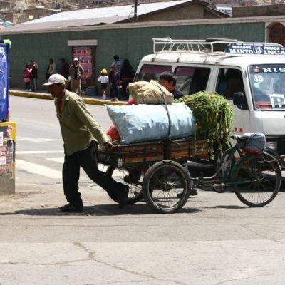 Gemüsetransport auf der Rikscha