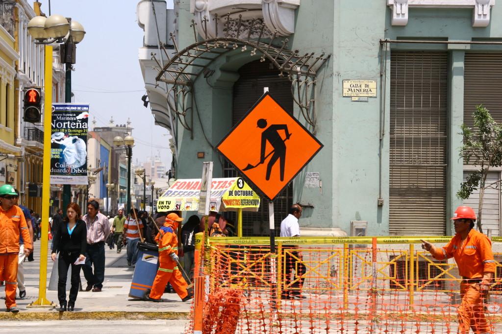 In Lima wird gebaut