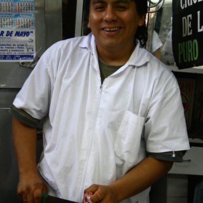 Mercado Mariscal Ramón Castilla - Fleischer auf dem Mercado Central de Lima