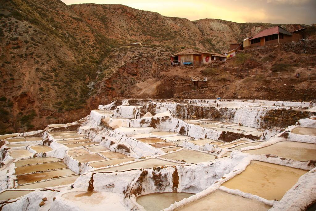 Salinas de Maras - Salzterrassen bei Sonnenuntergang