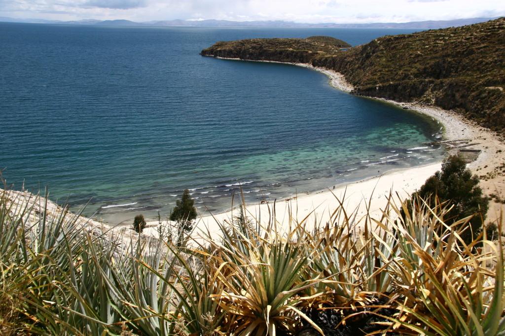 Titicaca-See - Strand auf der Isla de Sol