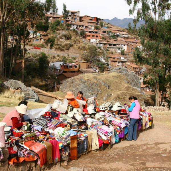 Verkaufsstand in der Nähe von Sacsayhuaman