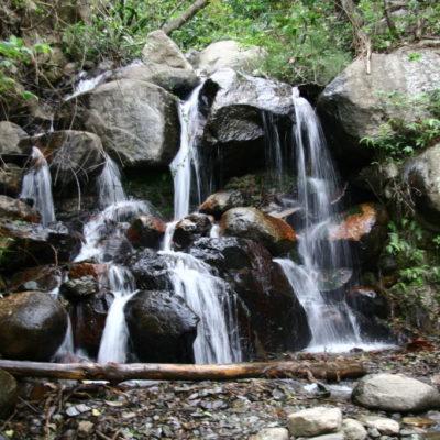 Wasserfälle auf dem Pfad zum Machu Picchu