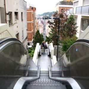 Rolltreppe Baixada de la Gloria zum Park Güell
