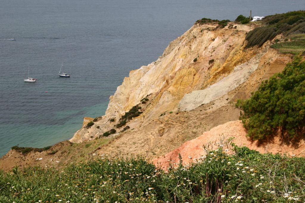 Die bunten Sandstein-Felsen - Alum Bay