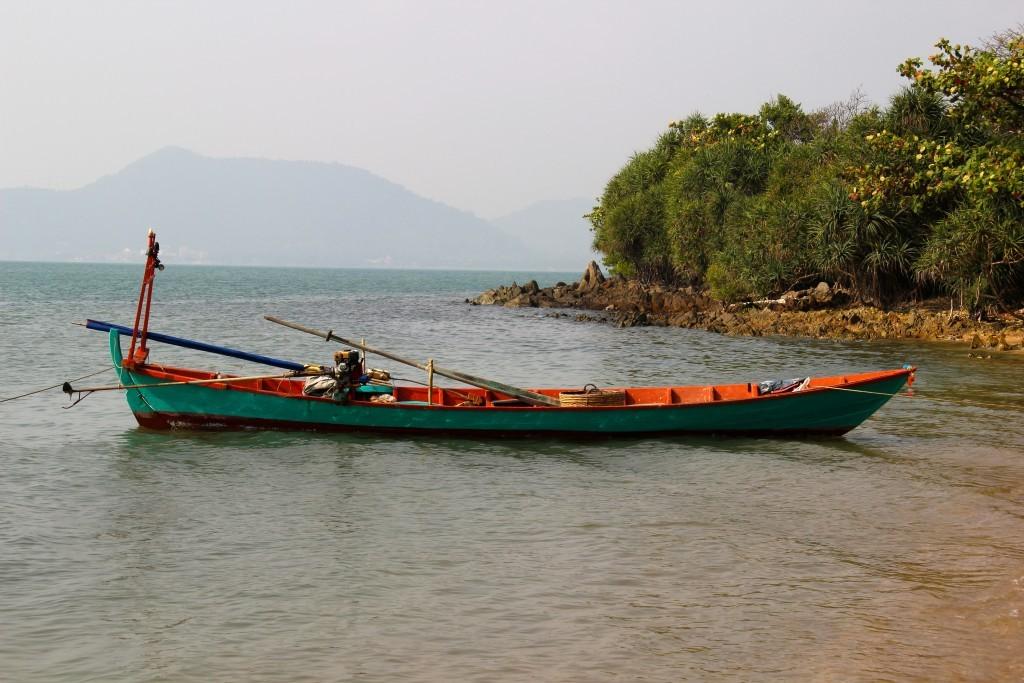 Boot vor Rabbit Island