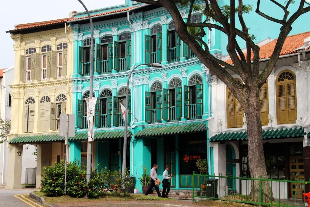 Bunte Häuser in Duxton Hill - Singapur