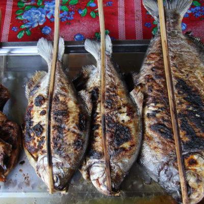 Kampot Crab Market - BBQ Fish