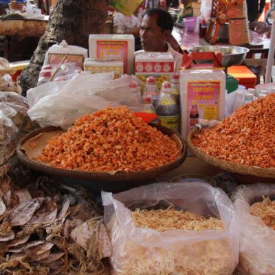 Kep Crab Market - Getroknette Shrimps