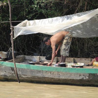 Kochen auf dem Hausboot
