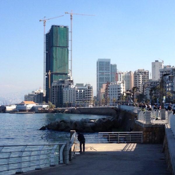 Corniche - Strandpromenade in Beirut