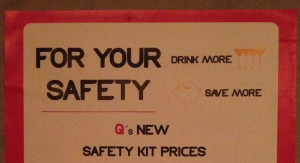 Drink More For Your Safety!