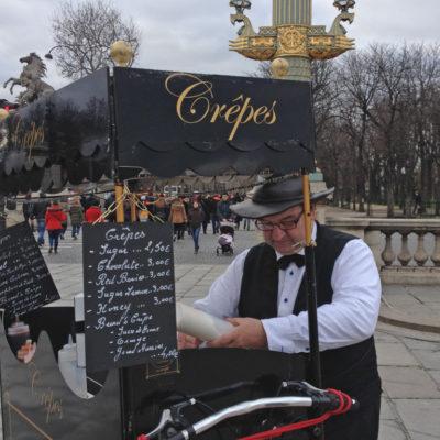 Crêpes-Stand auf der Place De La Concorde