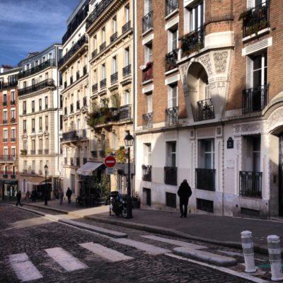 Straße in Montmartre