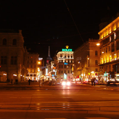 Kärntner Straße in der Nacht