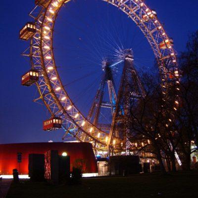 Prater - Riesenrad zur blauen Stunde