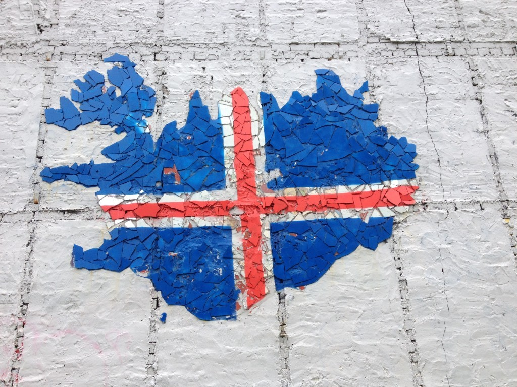 Island - Graffiti der Nationalflagge