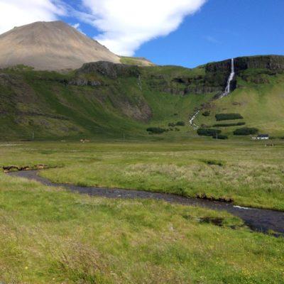 Wasserfall  Bjarnarfoss