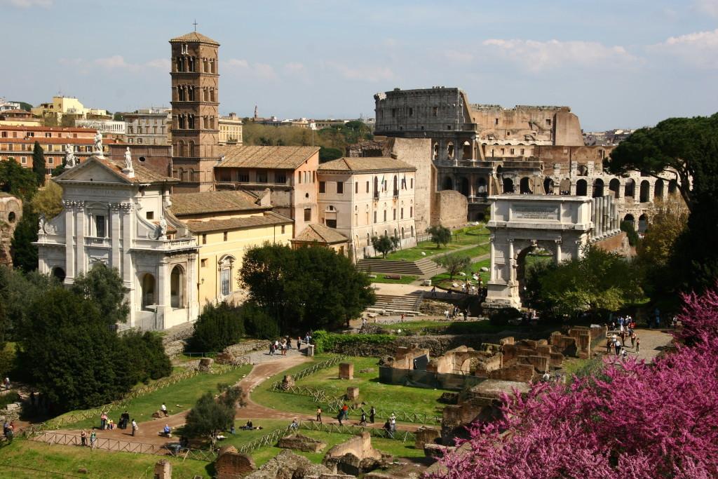 Forum Romanum vom Aussichtspunkt Palatin