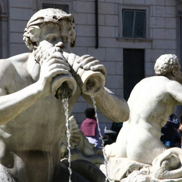 Mohrenbrunnen Fontana di Moro auf der Piazza Navona