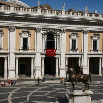 Piazza del Campidoglio - Reiterstatue Mark Aurels