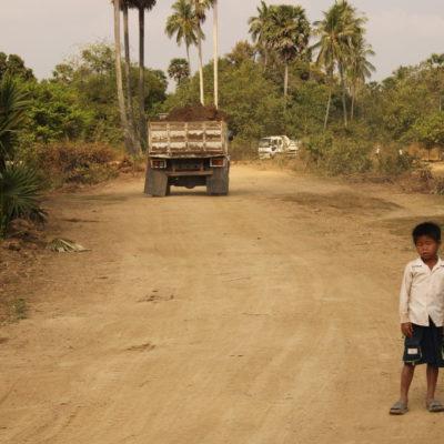 Auf der Straße in der Nähe von Kampot