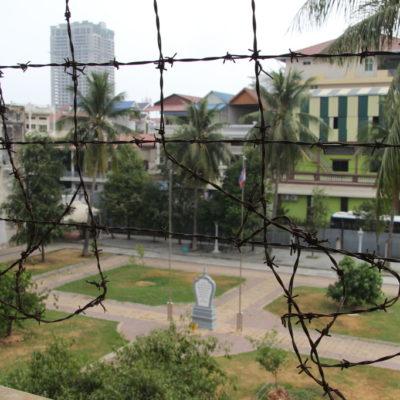 Blick auf den Innenhof des Tuol-Sleng-Genozid-Museums