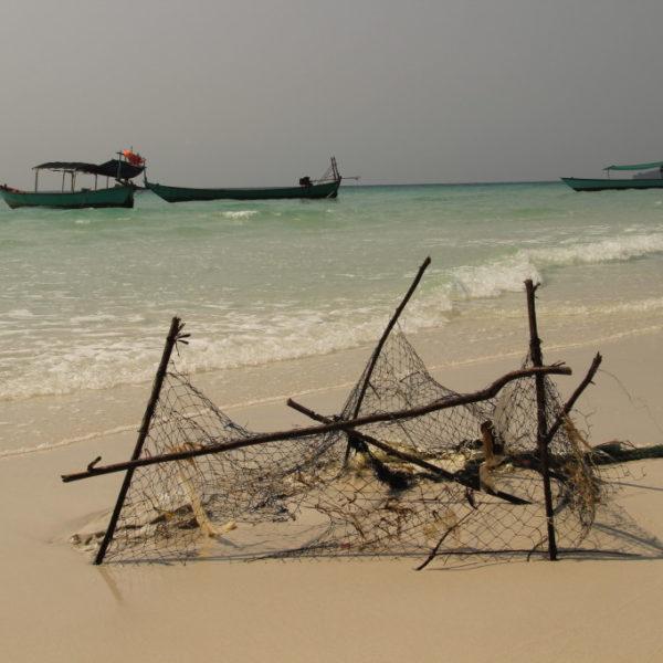 Boote vor Sok San Beach