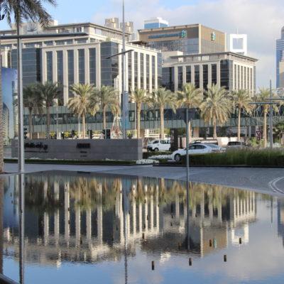 Burj Khalifa Park - Spiegelung
