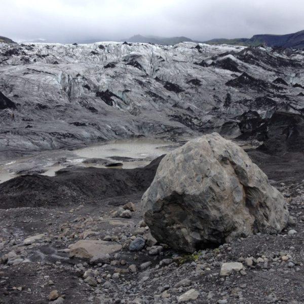 Eisbrocken  am Sólheimajökul