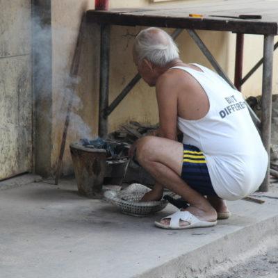 Essenszubereitung auf der Straße