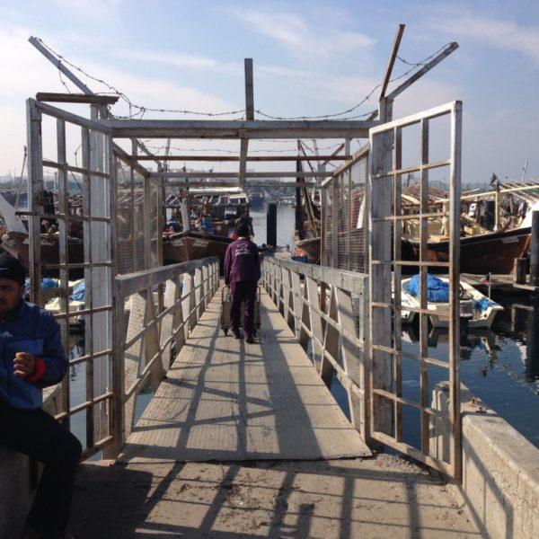 Fischer am Hafen von Kuwait