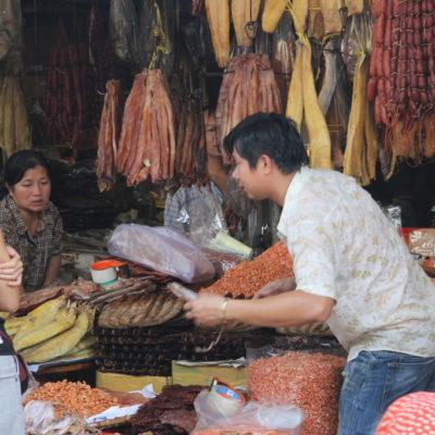 Fleisch & Fisch in Phnom Penh