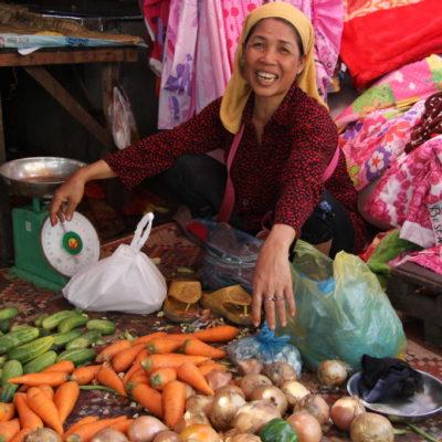 Gemüsestand auf dem Phsar Chas