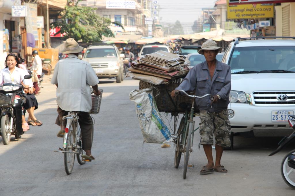 Gewusel auf den Straßen von Battambang