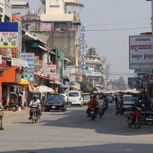 Hauptstraße in Battambang