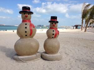 Heiße Weihnachten am Dubai Beach