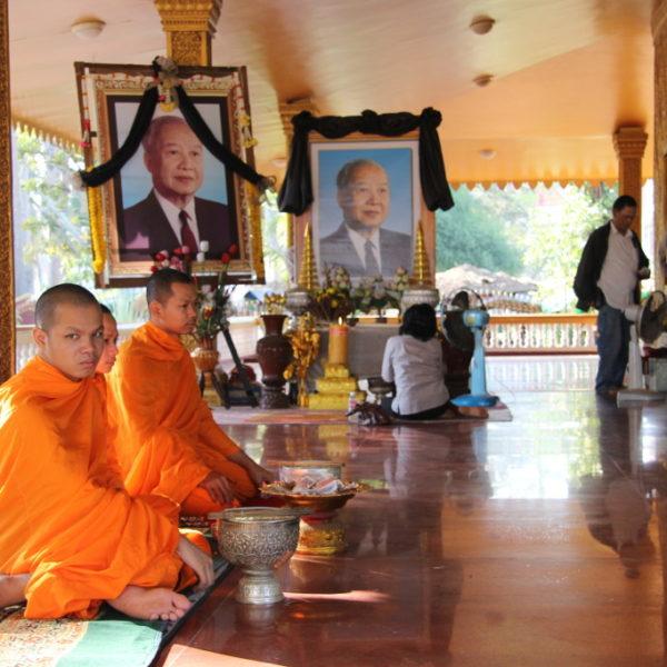 Junge Mönche im Wat Preah Prom Rath